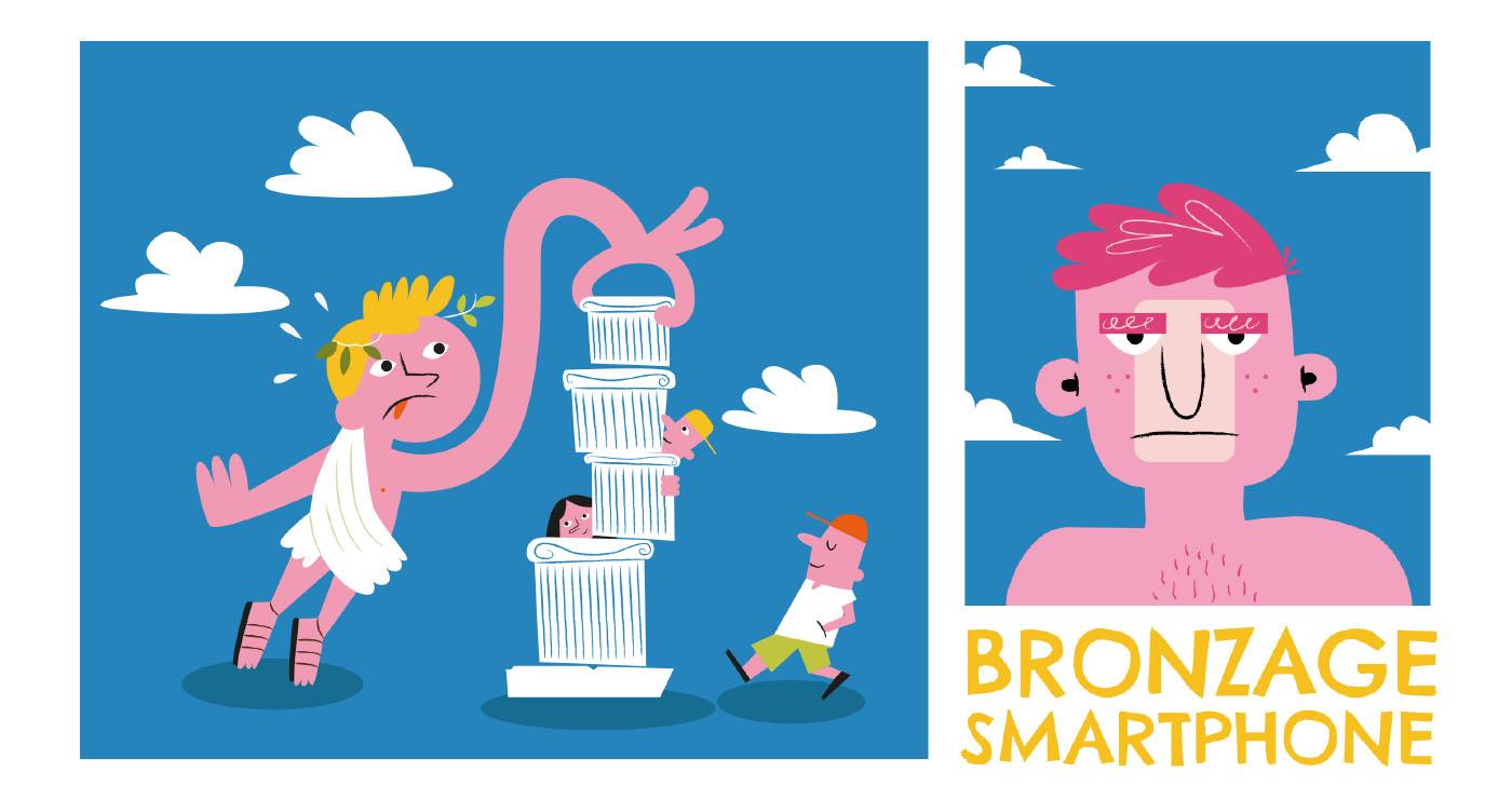 illustrations thomas gaudinet touristes