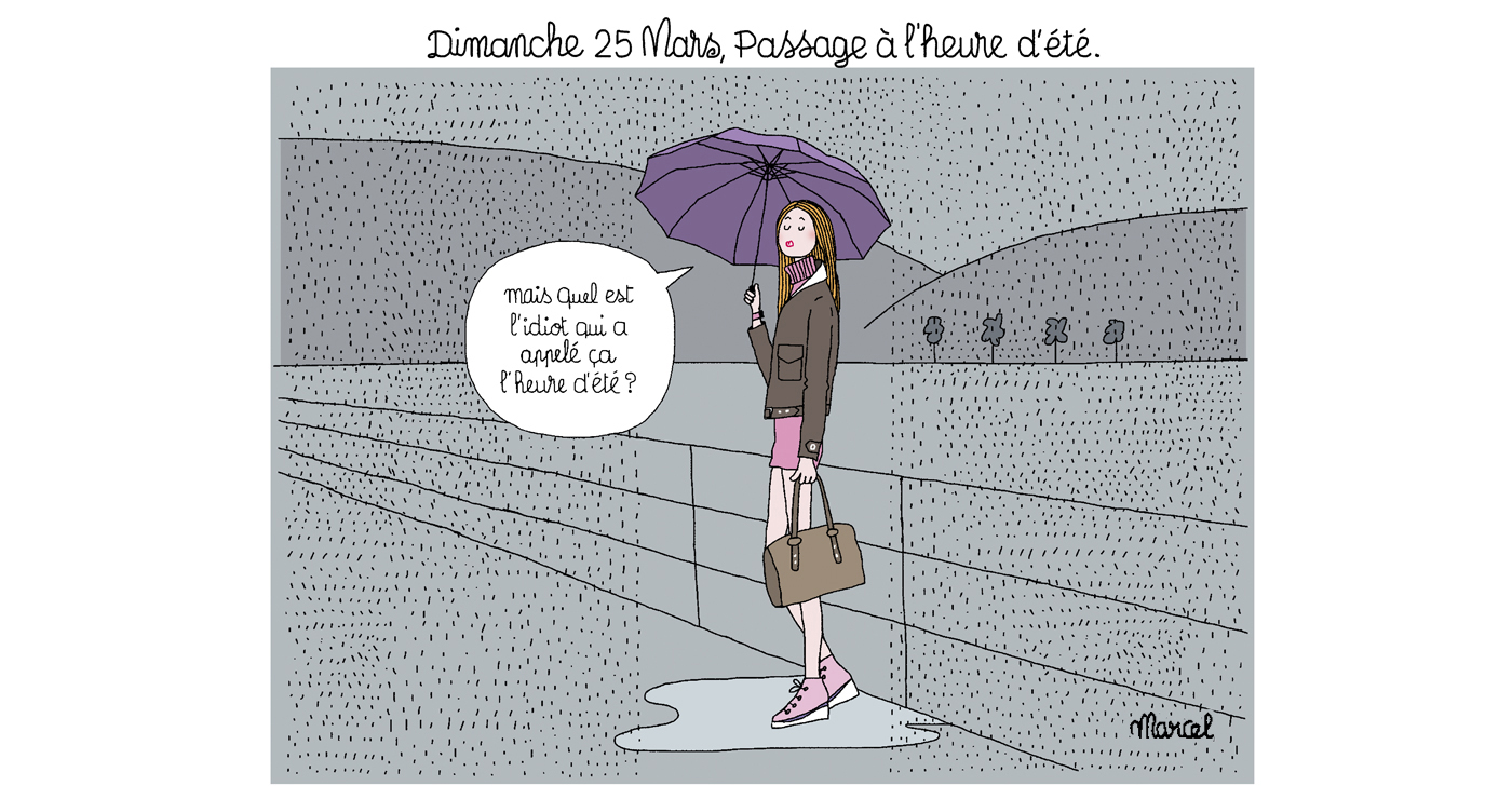 marcel-illustration-rough-story-board-animation-paper-art-personnages-pluie-femme-lun-et-lautre-1
