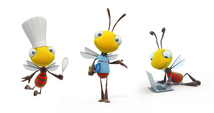 Bertrand MAYERBERGER 3D - illustrations -  - Mascottes