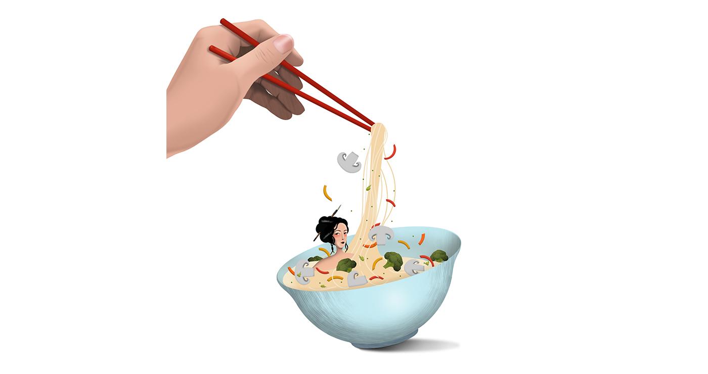 mllevalentine-illustration-rough-story-board-animation-alimentaire-nouilles-chinoises-lun-et-lautre copie