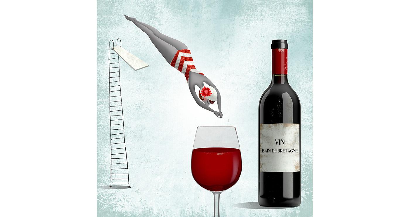 mllevalentine-illustration-rough-story-board-animation-alimentaire-vin-lun-et-lautre