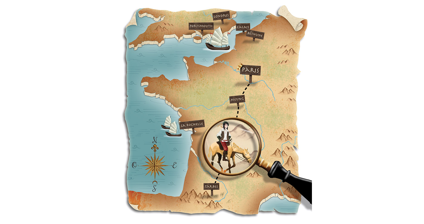 mllevalentine-illustration-rough-story-board-animation-cartes-les-trois-mousquetaires-lun-et-lautre