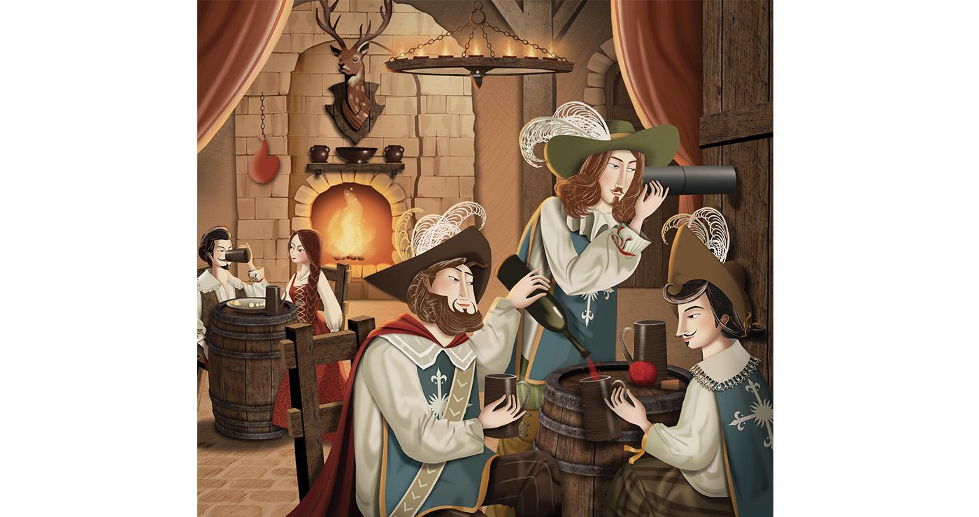 mllevalentine-illustration-rough-story-board-animation-editions-les-trois-mousquetaires-lun-et-lautre