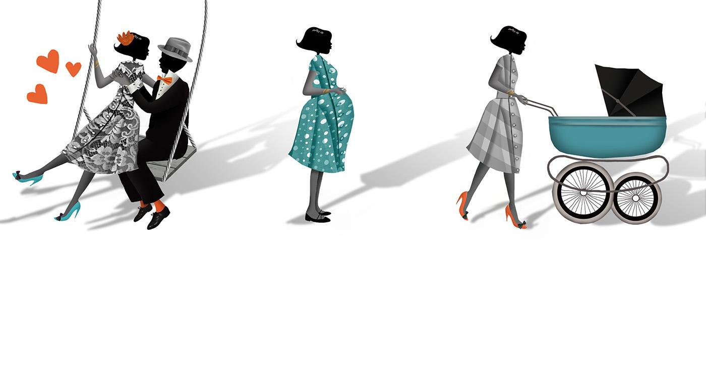 mllevalentine-illustration-rough-story-board-animation-personnages-triptyque-lun-et-lautre