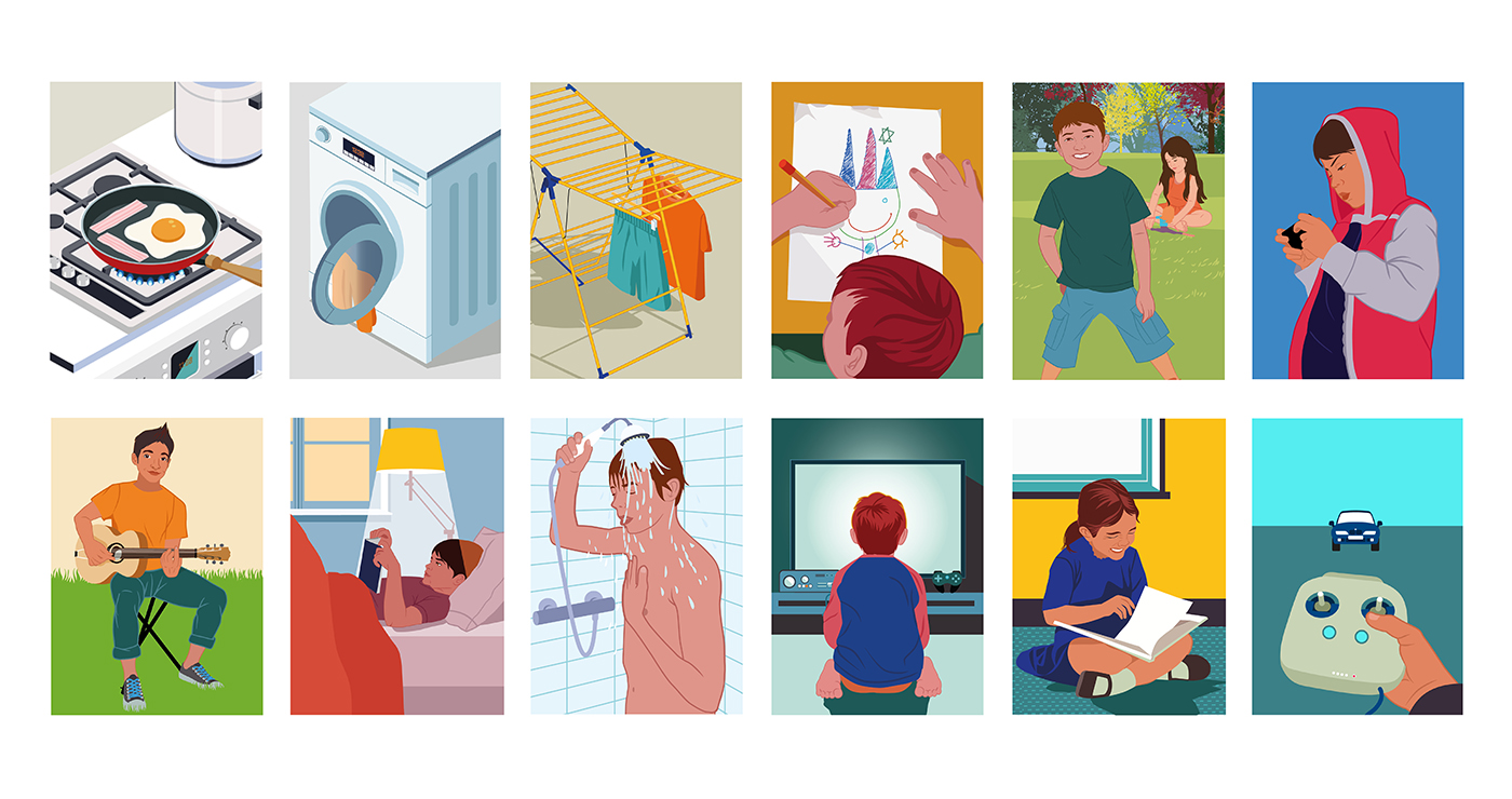odeka illustration rough story board animation paper art scenedevie personnages lun et lautre