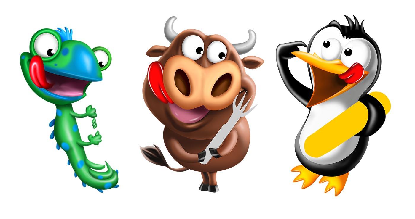 olivier-le-discot-illustrateur-mascotte-animaux-cartoon