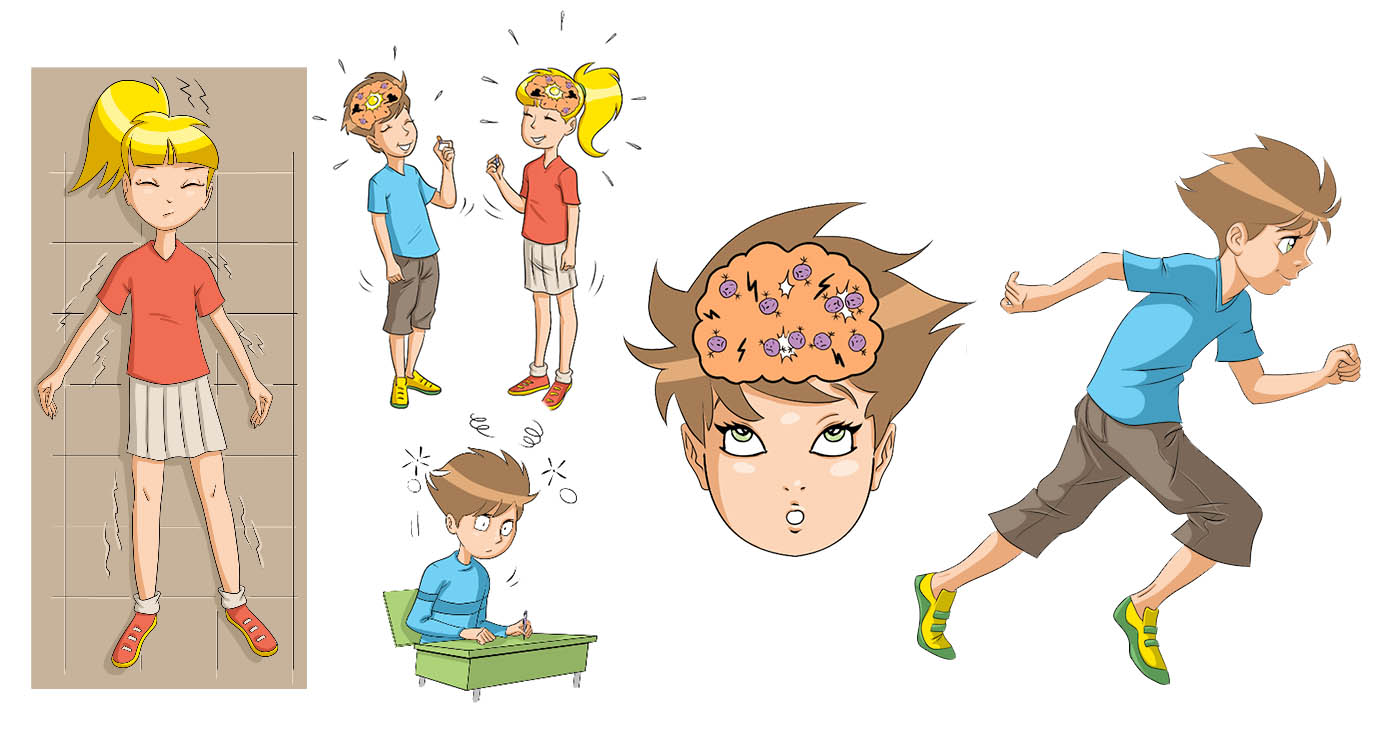 olivier le discot illustration illustration rough story board animation evenementiel manga epilepsie