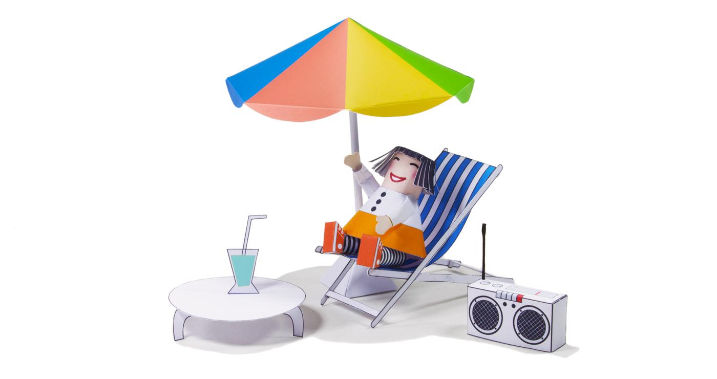 patrick-pasques-papertoy-fille-soleil-plage