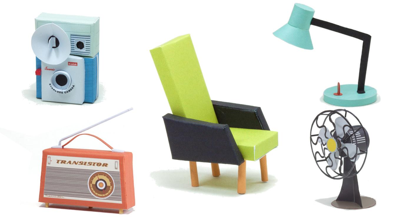 patrick-pasques-papertoy-radio-fauteuil-ventilateur-lampe