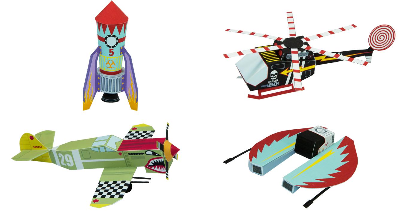 patrick-pasques-papertoys-avion-fusee-spatial