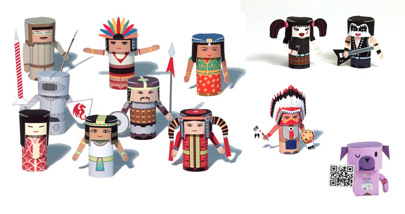 patrick-pasques-papertoys-personnages