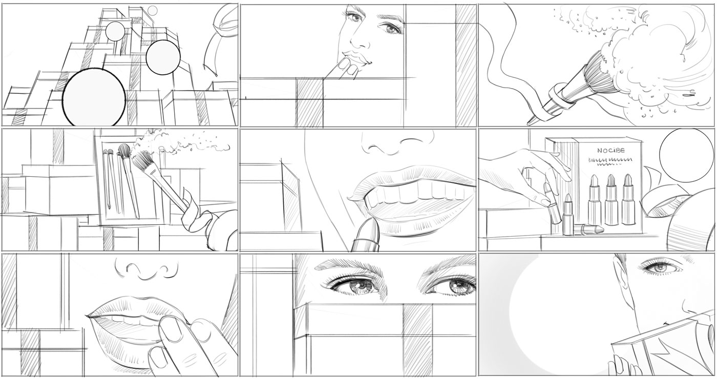 richard-ngo-roughs-story-board-nocibe