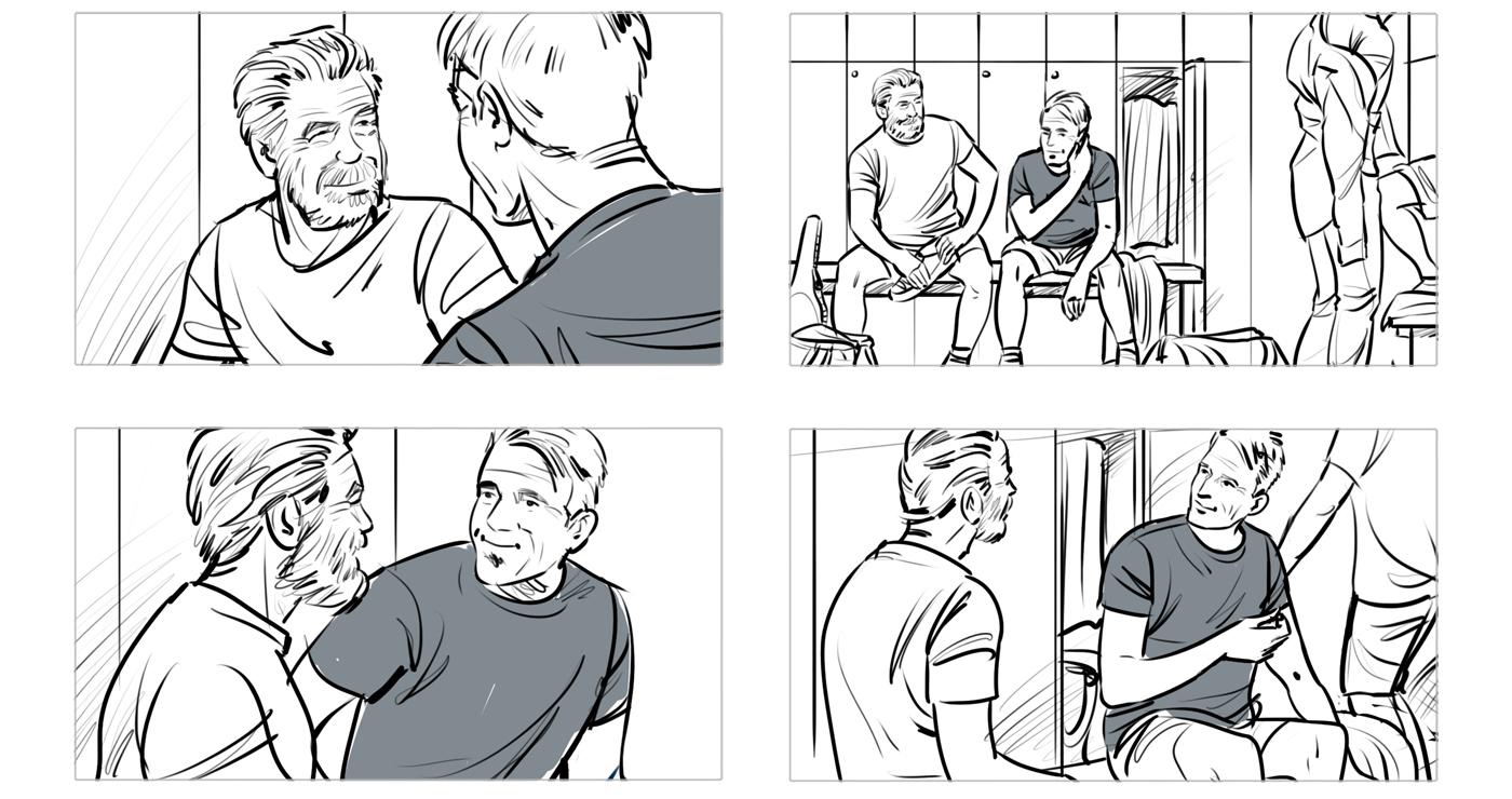 rough storyboard manuel fontegne afflelou