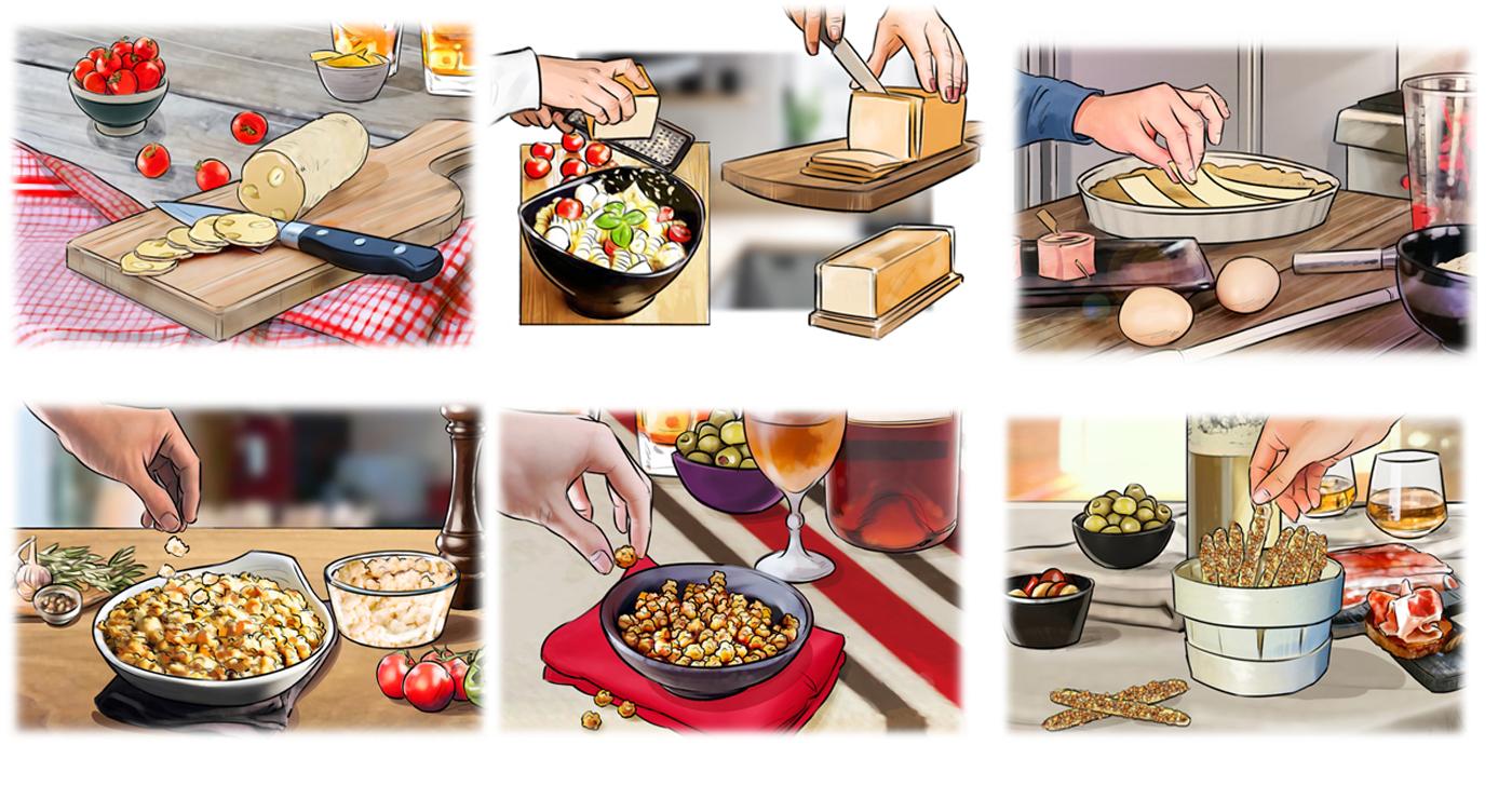 story board food manuel fontegne
