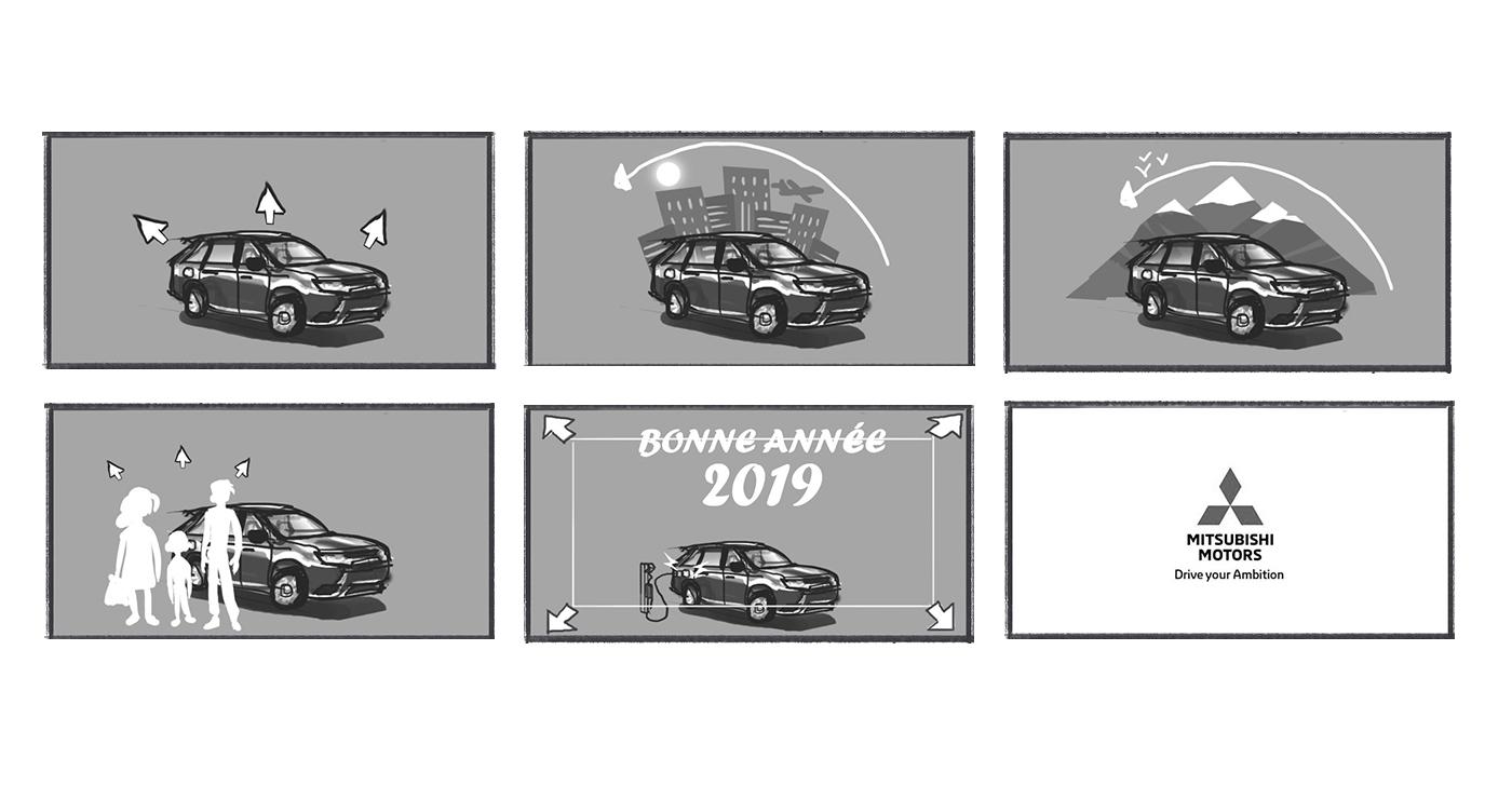 storyboard benoit tastet noir et blanc voiture